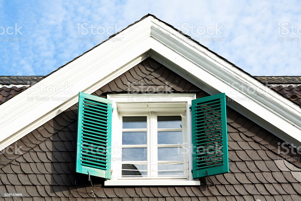 Gable stock photo