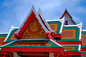 Gable Roof WatPalayli Temple,Supanburi,Thailand,Asia