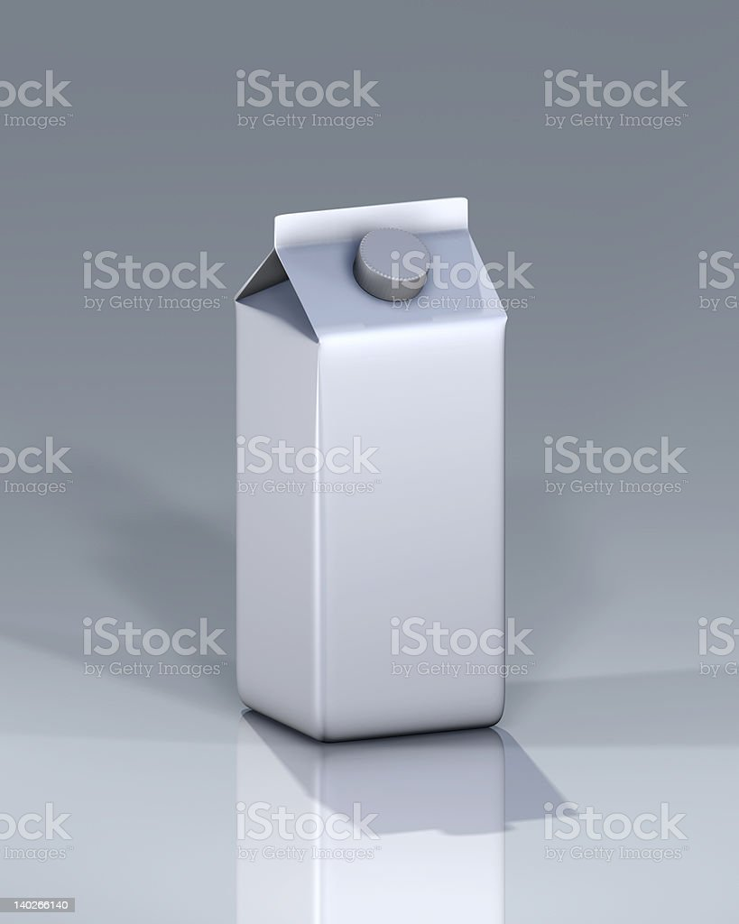 Gable top carton from Drink Container royalty-free stock photo