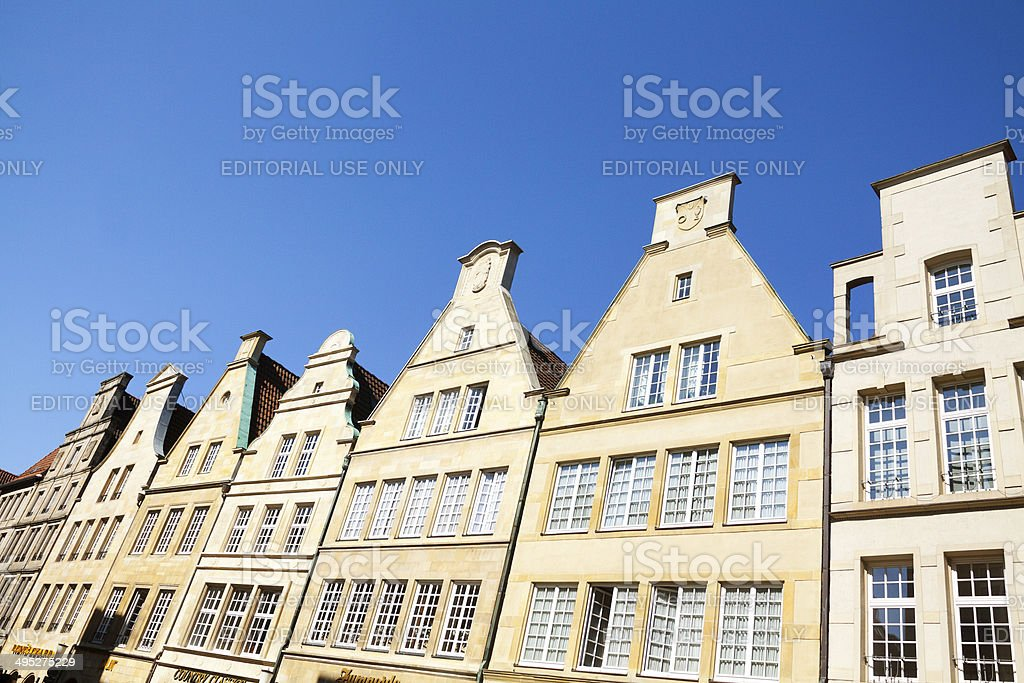 Gables at Prinzipalmarkt in M?nster royalty-free stock photo