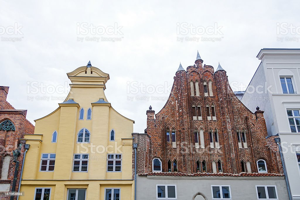 Gables in Stralsund stock photo