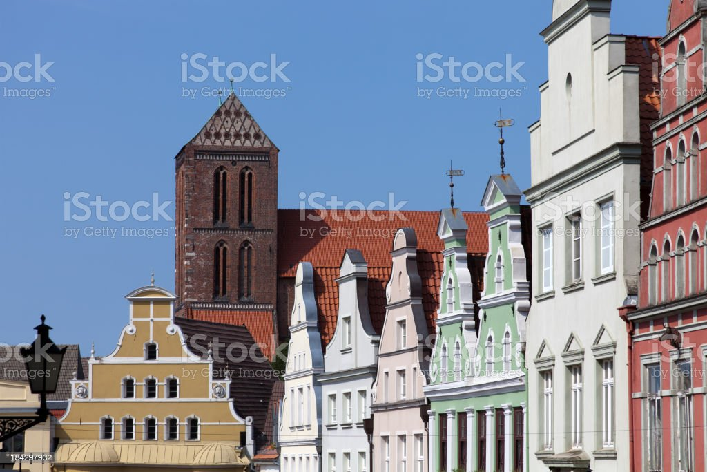 Gables in Wismar stock photo