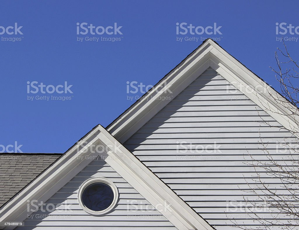 Gables with a Round Window stock photo