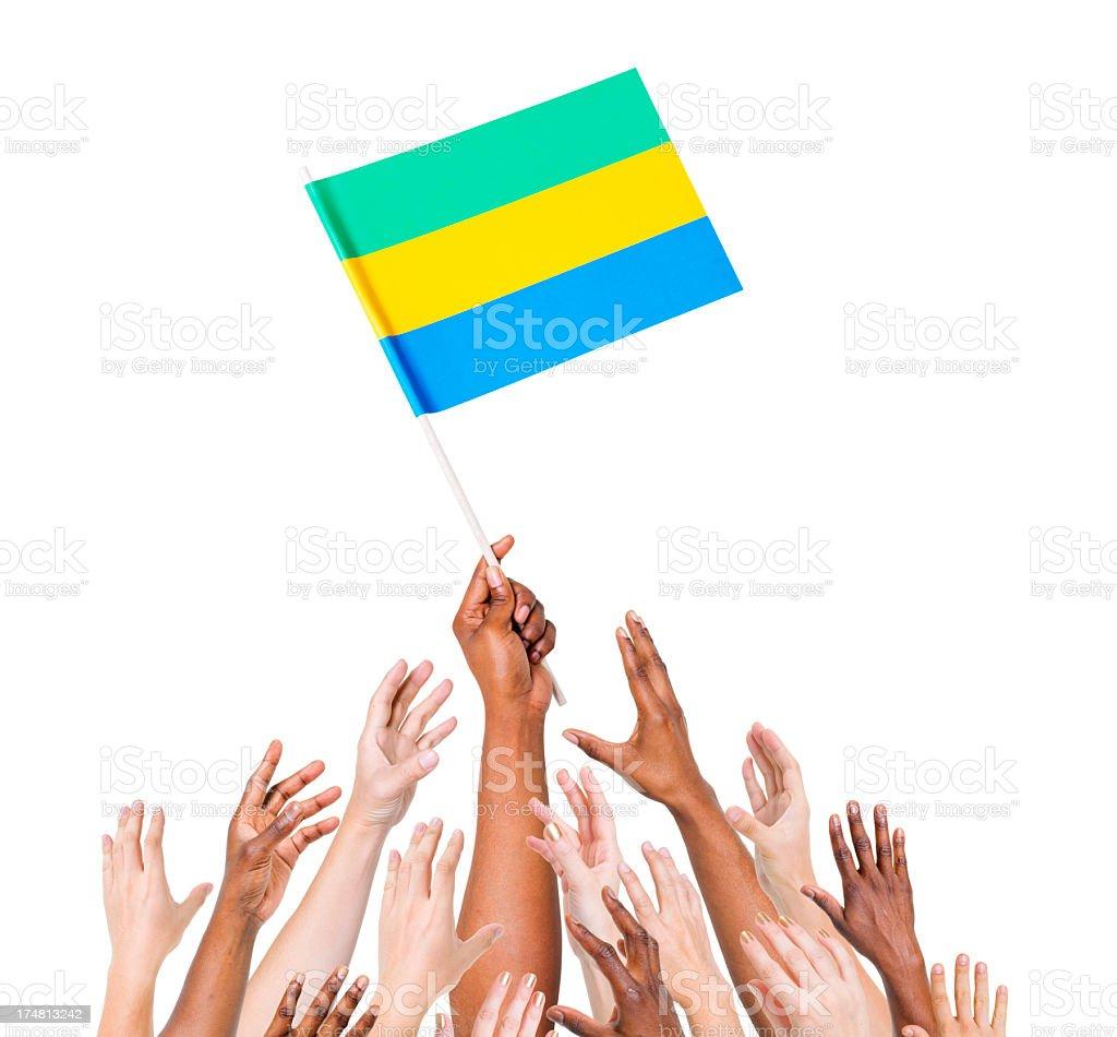 Gabon Flag royalty-free stock photo