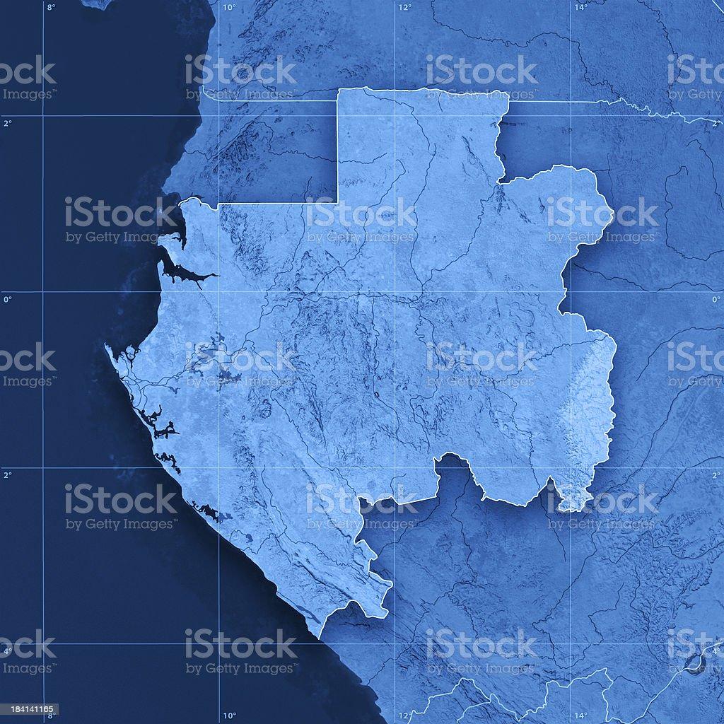 Gabon Topographic Map royalty-free stock photo