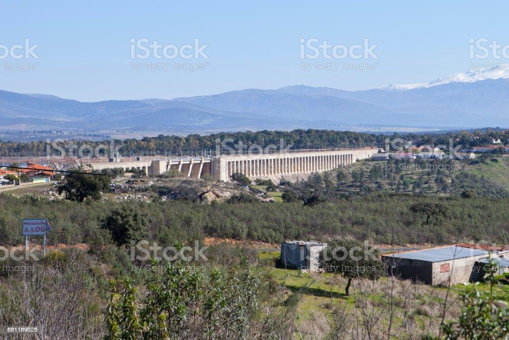 Gabriel y Galan reservoir, Caceres, Spain stock photo