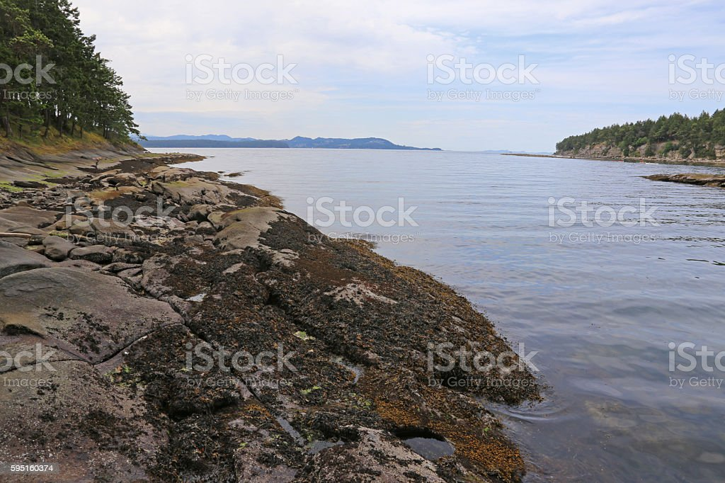 Gabriola Island Bay stock photo