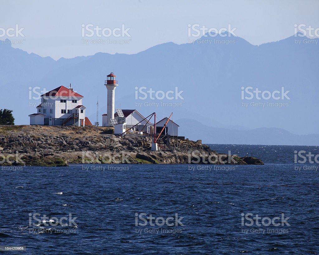Gabriola Lighthouse stock photo