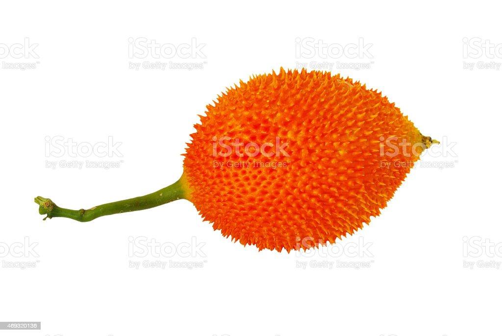 Gac fruit isolated on white background. stock photo