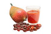 Gac fruit juice isolated