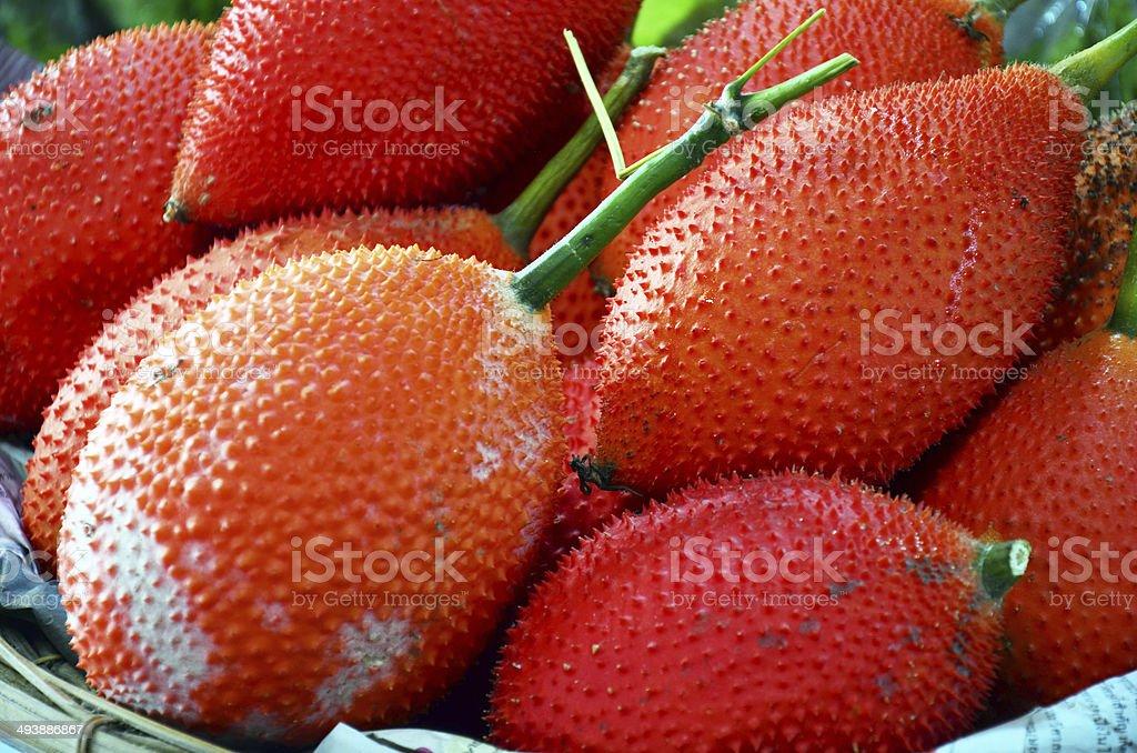 Gac fruit or Baby Jackfruit stock photo