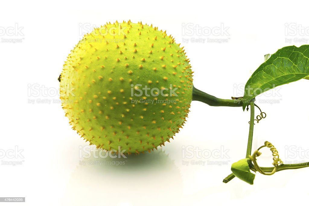 gac fruit with leaf royalty-free stock photo
