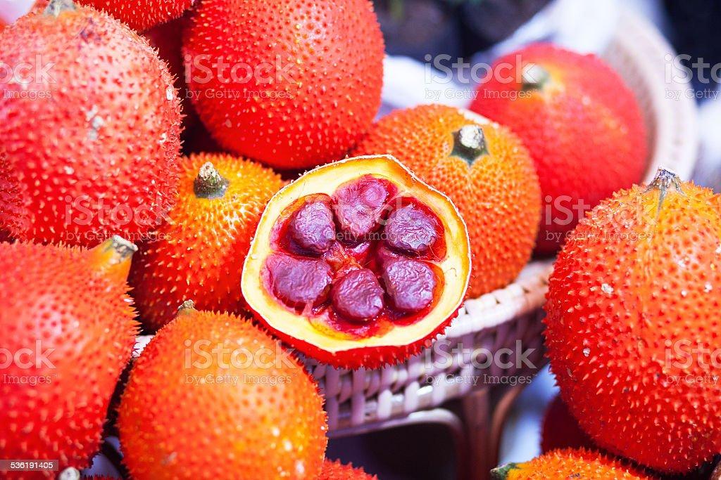 Gac fruits stock photo
