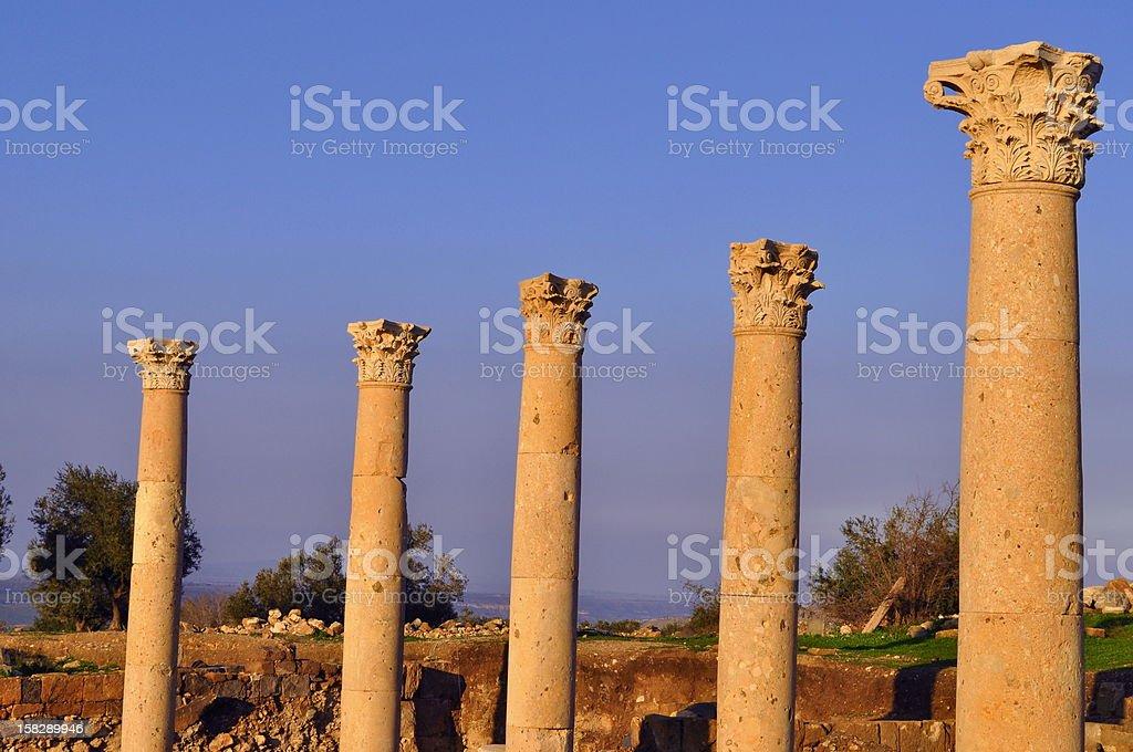 Gadara Corinthian columns stock photo