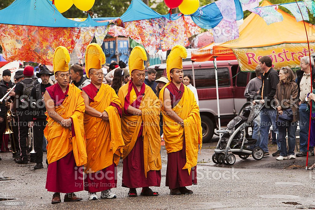 Gaden Shartse Tibetan Monks royalty-free stock photo
