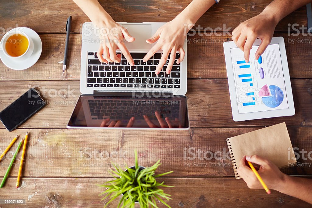 Gadget addiction stock photo