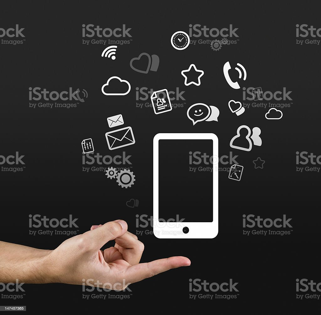 Gadgets at your finger tips royalty-free stock photo