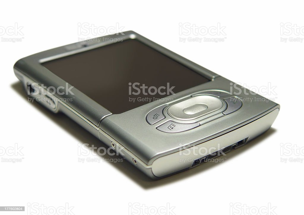 Gadgets: PDA on white background. royalty-free stock photo