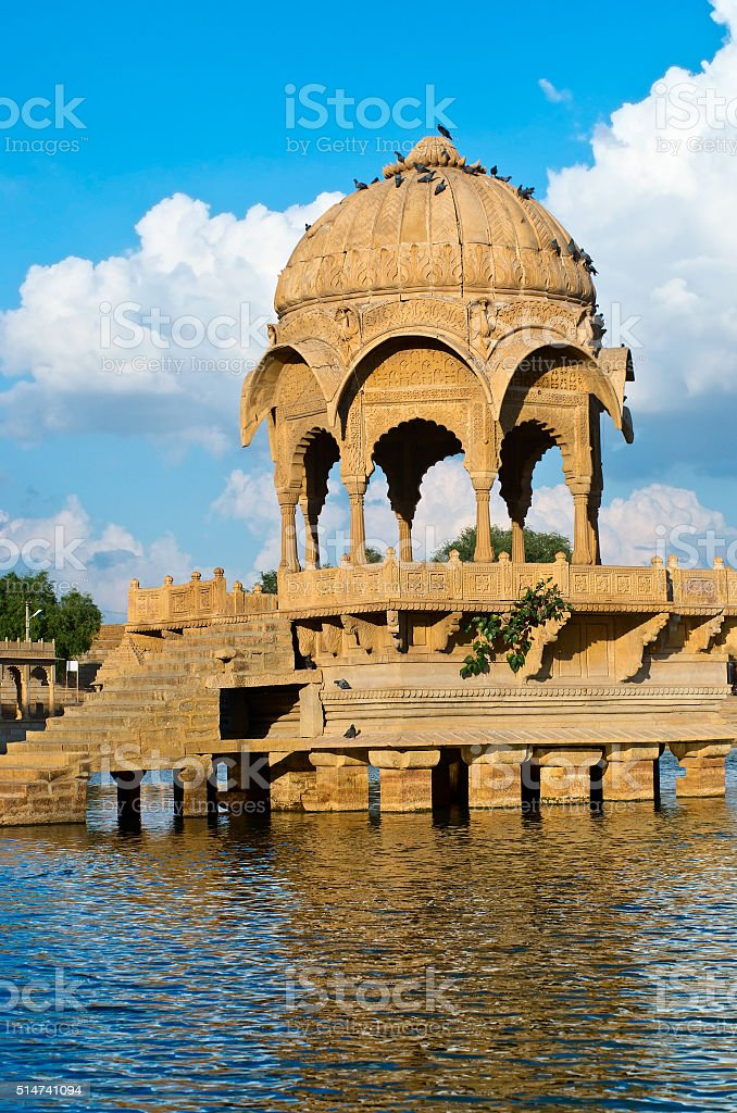 Gadi Sagar Gate, Jaisalmer, North India stock photo