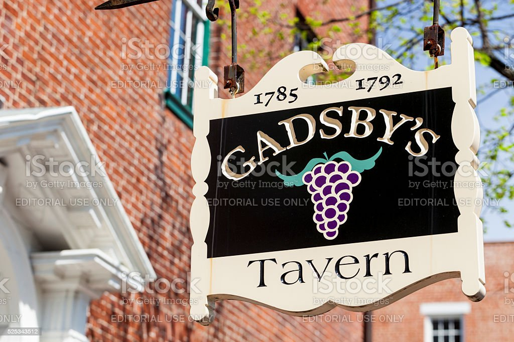 Gadsby's Tavern In Alexandria, Virginia stock photo