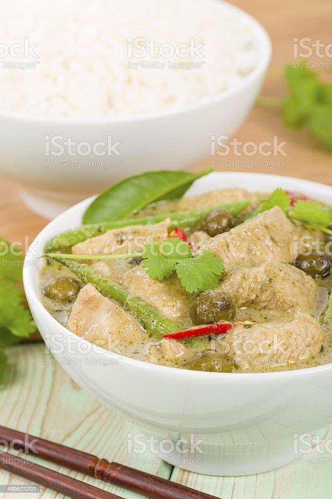 Gaeng Khiao Wan Gai stock photo