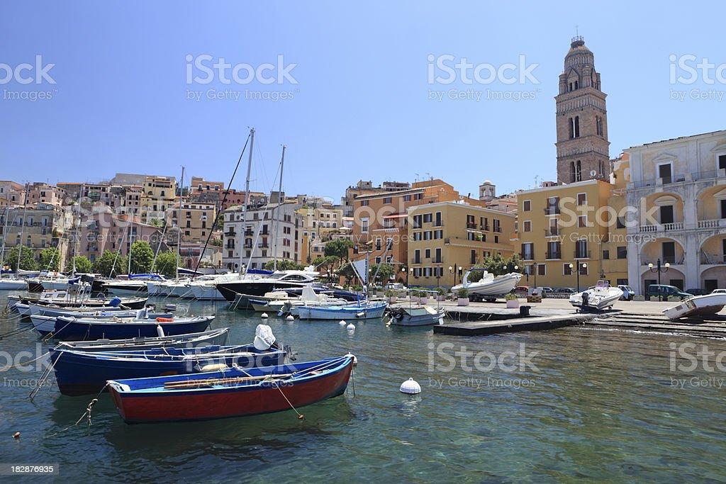 Gaeta harbour and cityscape, Lazio Italy royalty-free stock photo