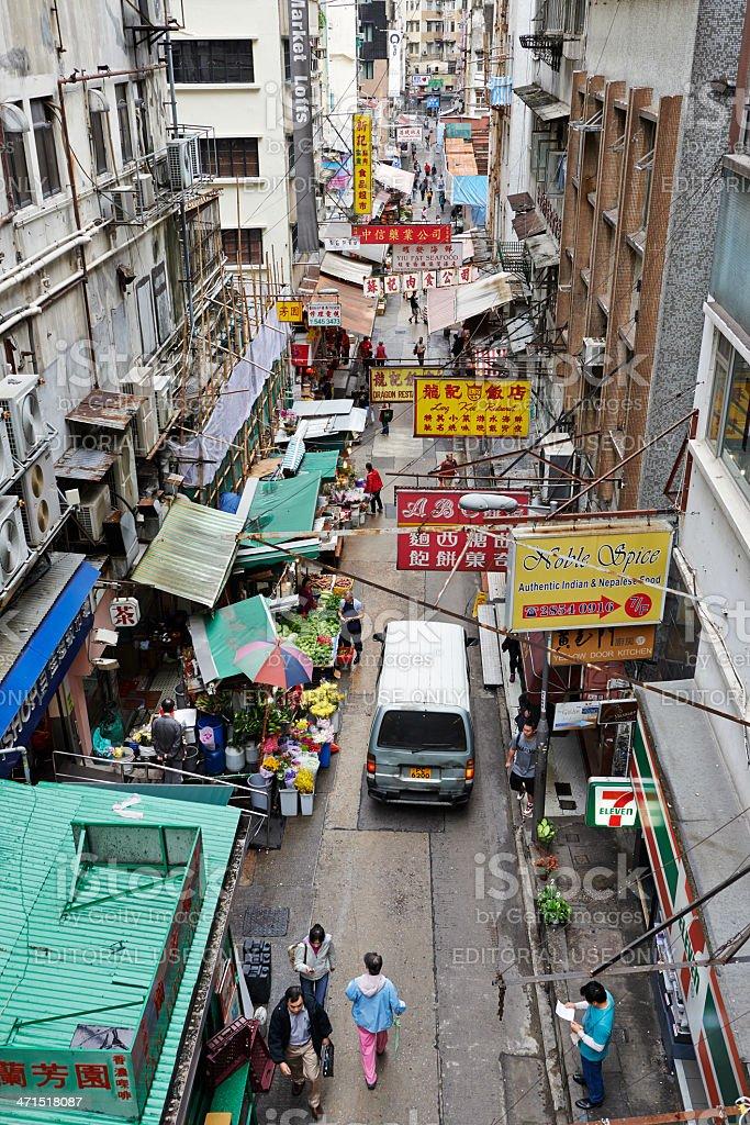 Gage Street in Hong Kong royalty-free stock photo