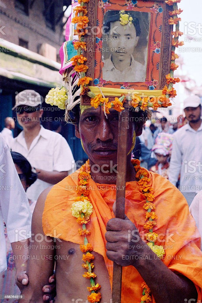 Gai Jatra (Festival of Cows) royalty-free stock photo