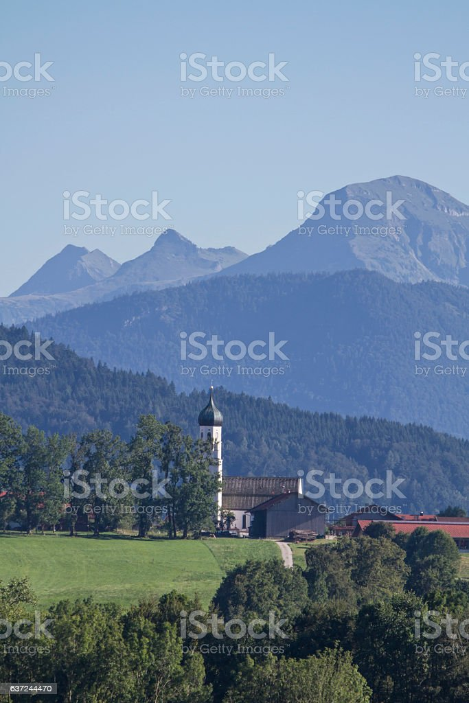 Gaißach - Village in Isarwinkel stock photo