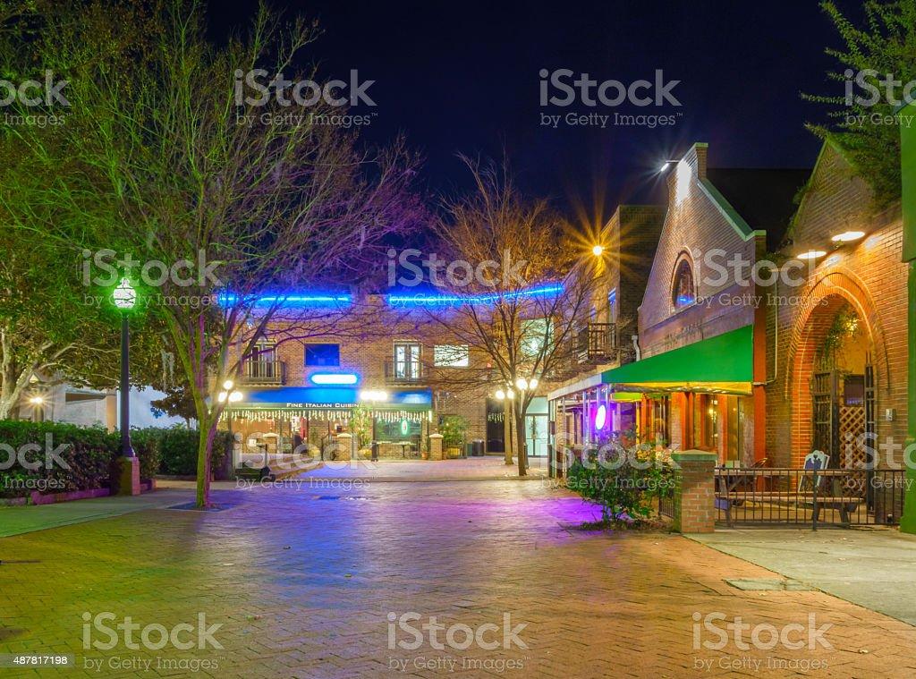 Gainesville Florida Downtown Restaurants stock photo
