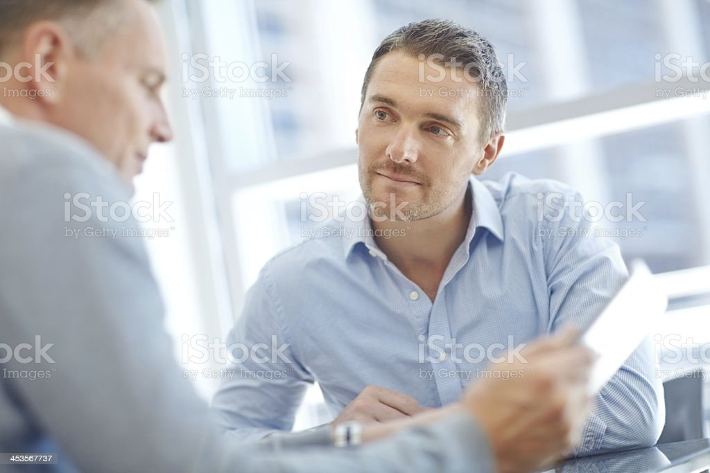 Gaining valuable corporate insight royalty-free stock photo
