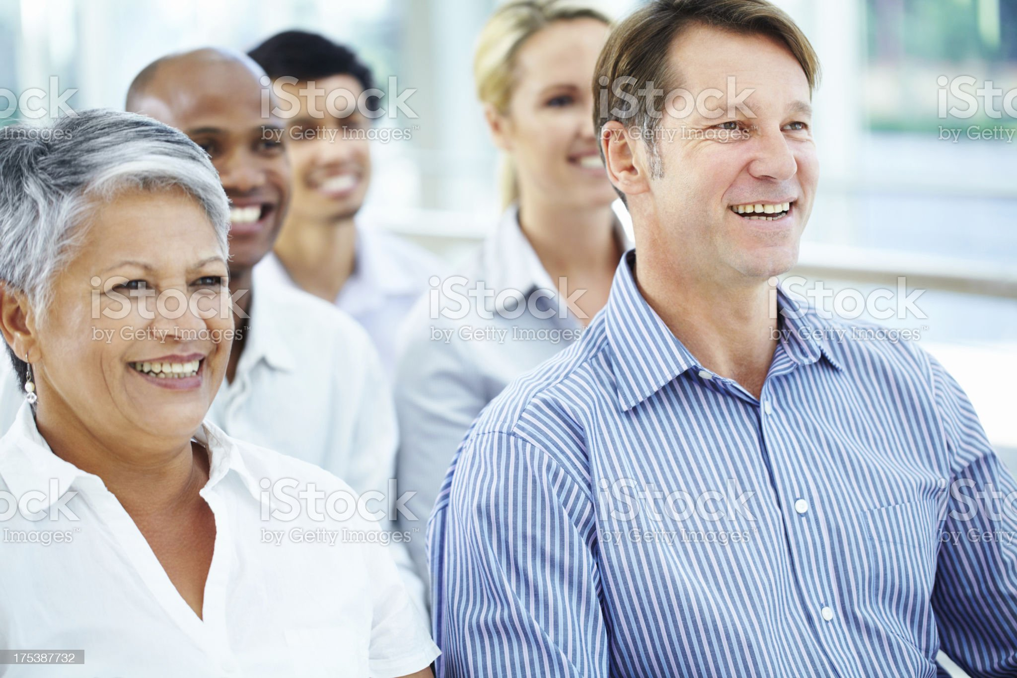 Gaining valuable insight into the corporate world royalty-free stock photo