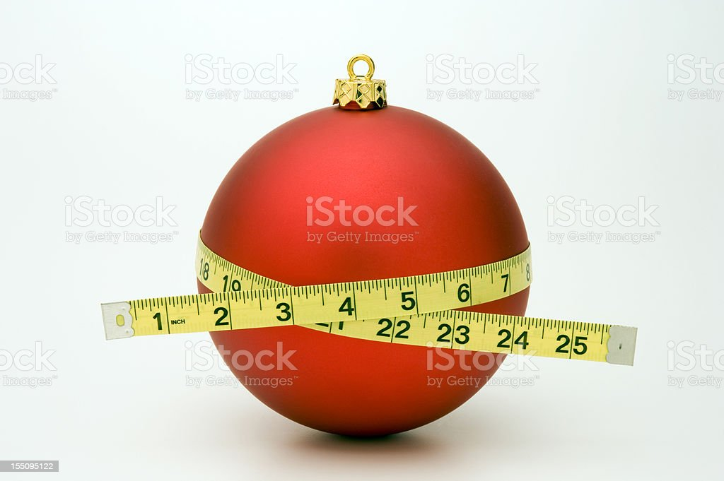 Gaining Weight at Christmas stock photo