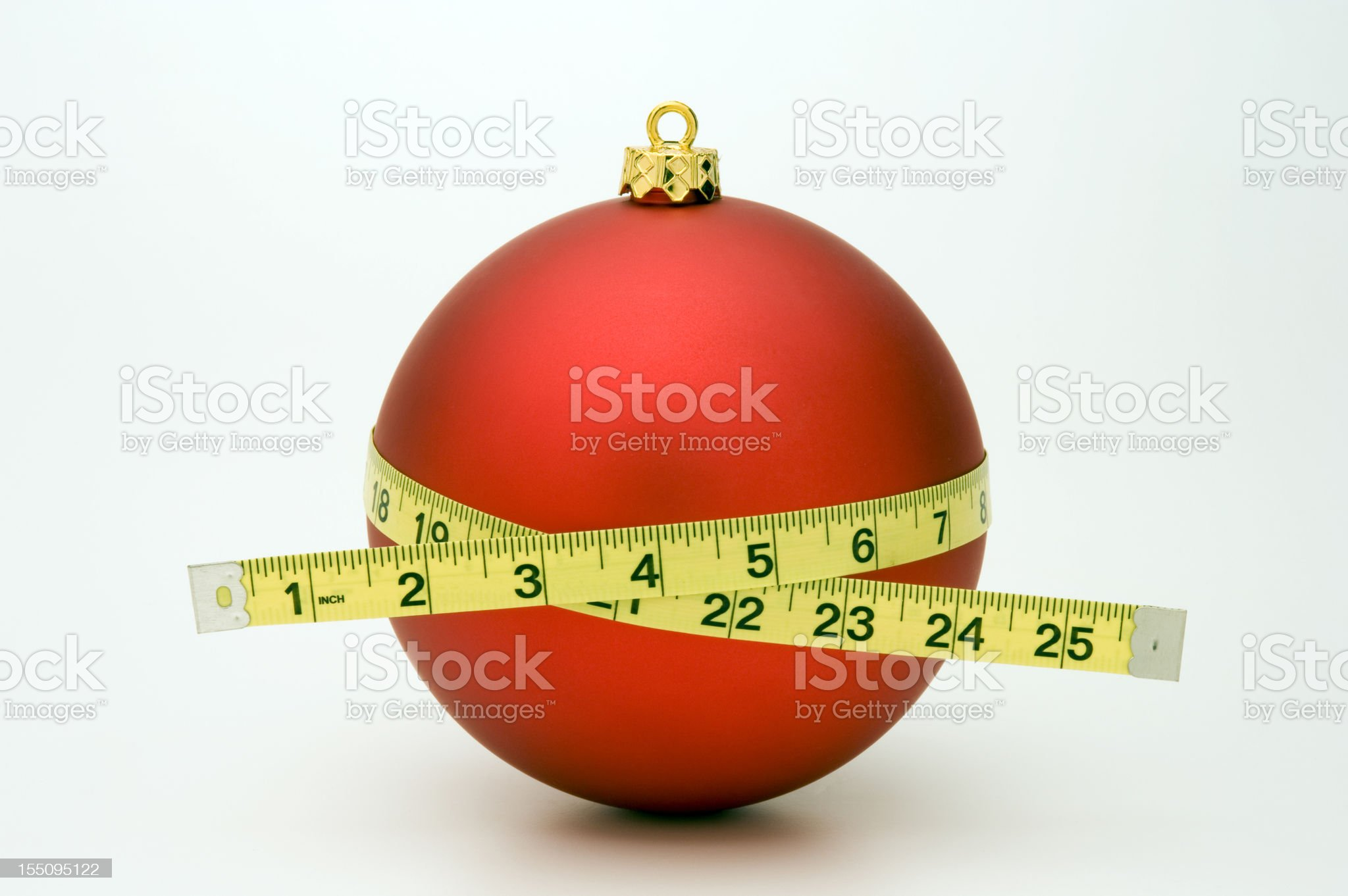 Gaining Weight at Christmas royalty-free stock photo