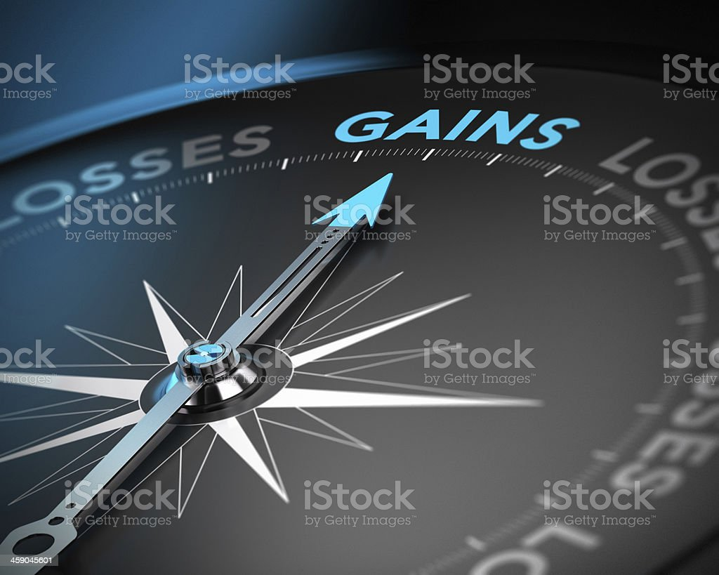 Gains vs Losses stock photo