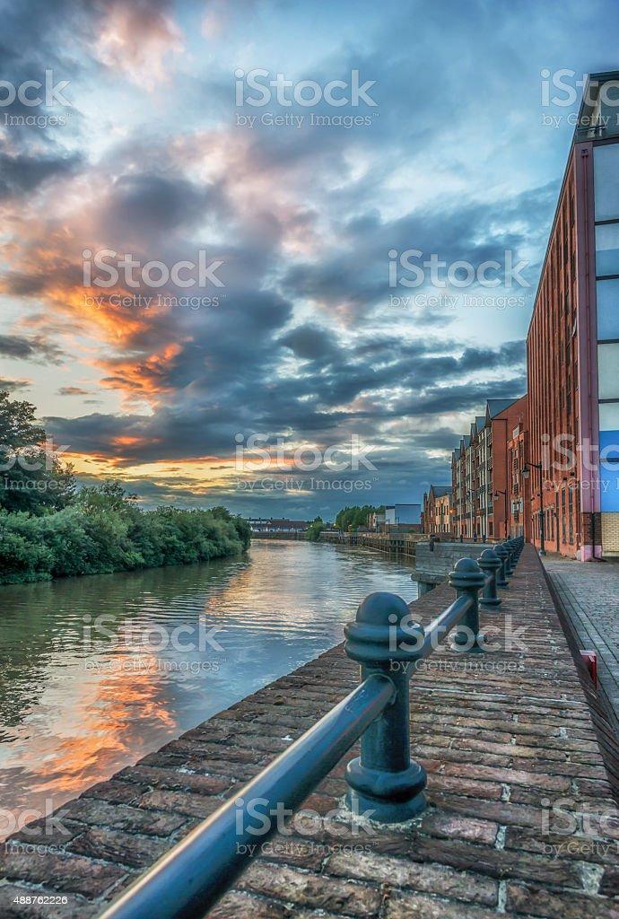 Gainsborough River Side Sunset stock photo