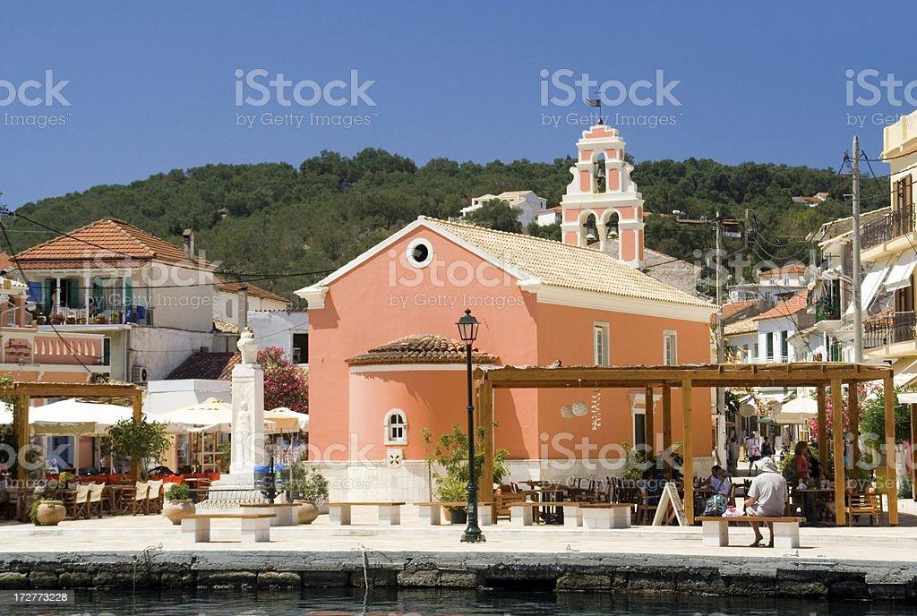 Gaios Village Centre - Paxos royalty-free stock photo