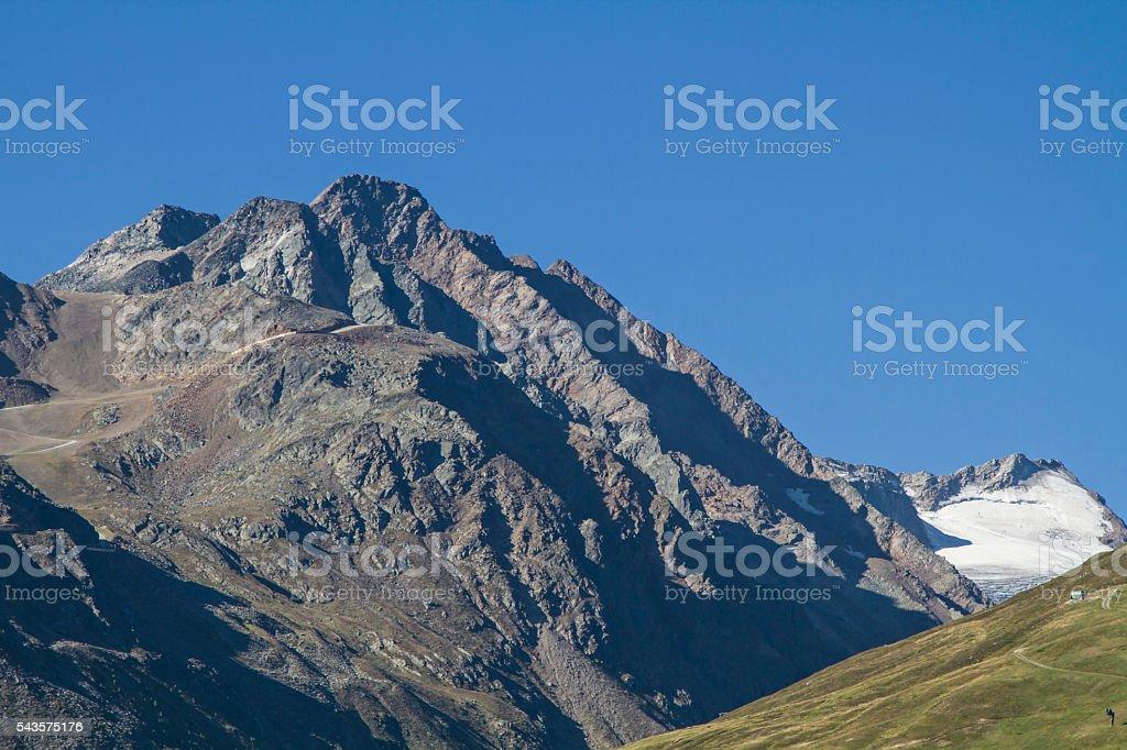 Gaislachkogel and Rettenbach glacier stock photo