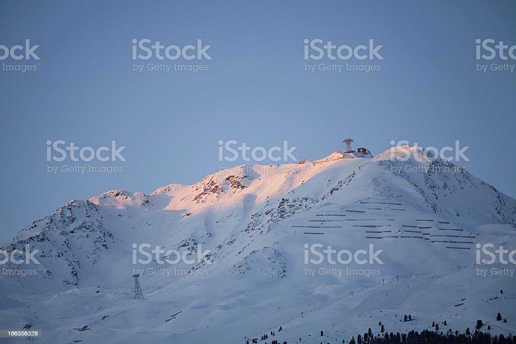Gaislachkogl mountain near Solden royalty-free stock photo