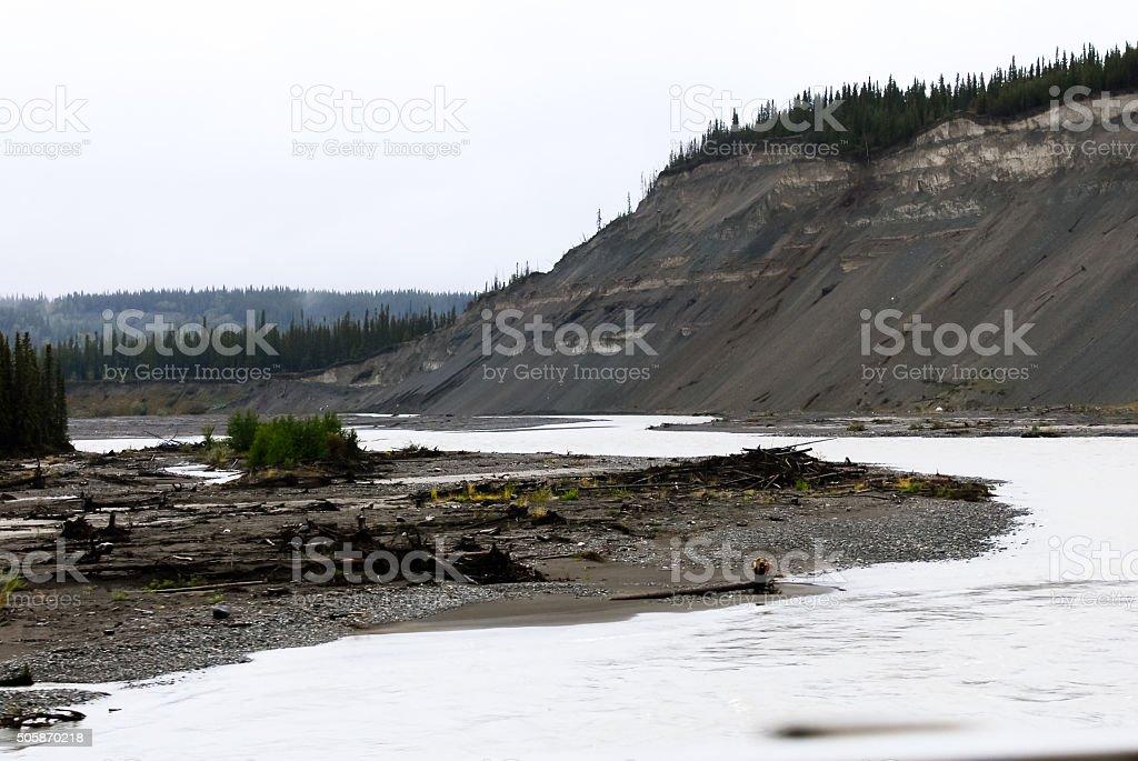 Gakona River near Glennallen, Alaska stock photo