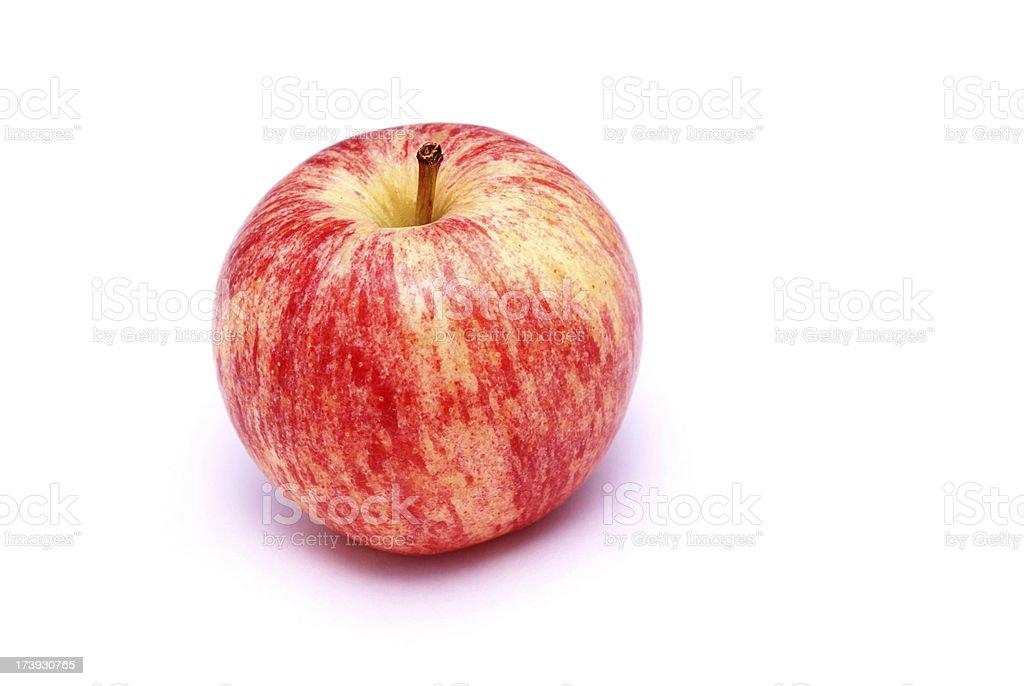 Gala apple isolated on white stock photo