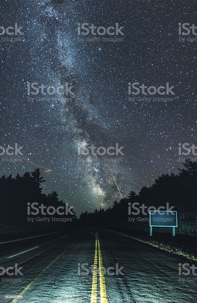 Galactic Highway stock photo