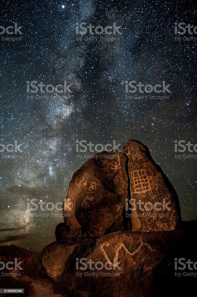Galactic Petroglyphs stock photo