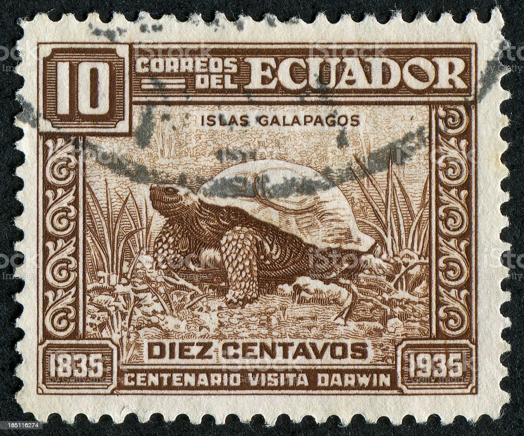 Galapagos Island Stamp stock photo