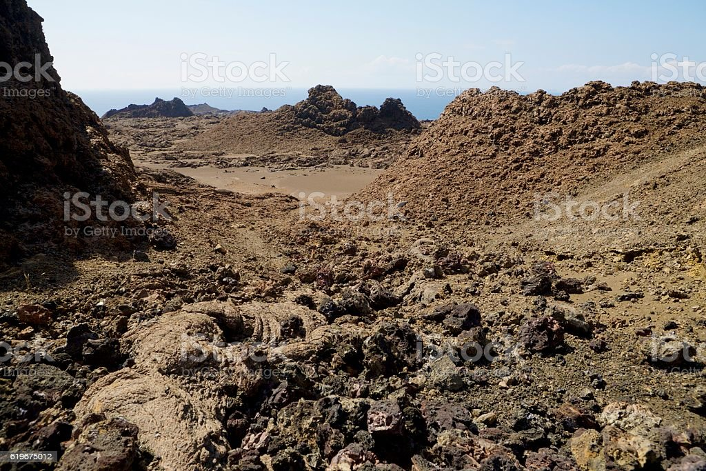 Galapagos lava island stock photo