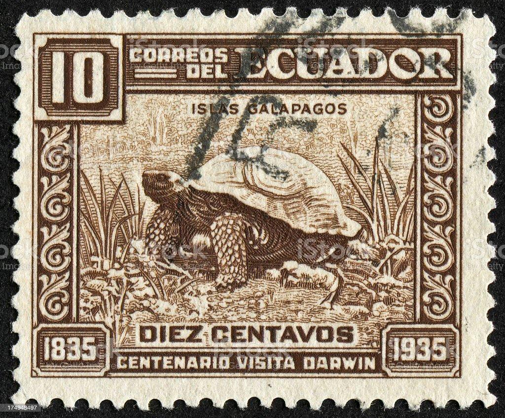 Galapagos Stamp royalty-free stock photo