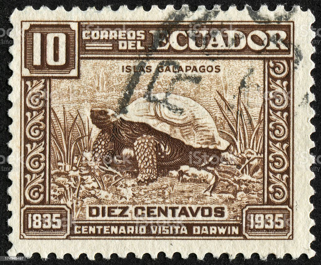 Galapagos Stamp stock photo