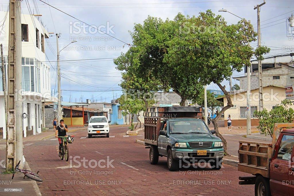 Galapagos Street stock photo