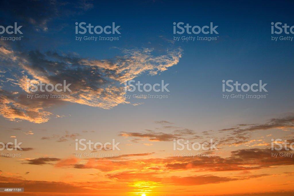 Galapagos Sunrise royalty-free stock photo