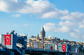 Galata Bridge and Galata Tower in the background, Istanbul views